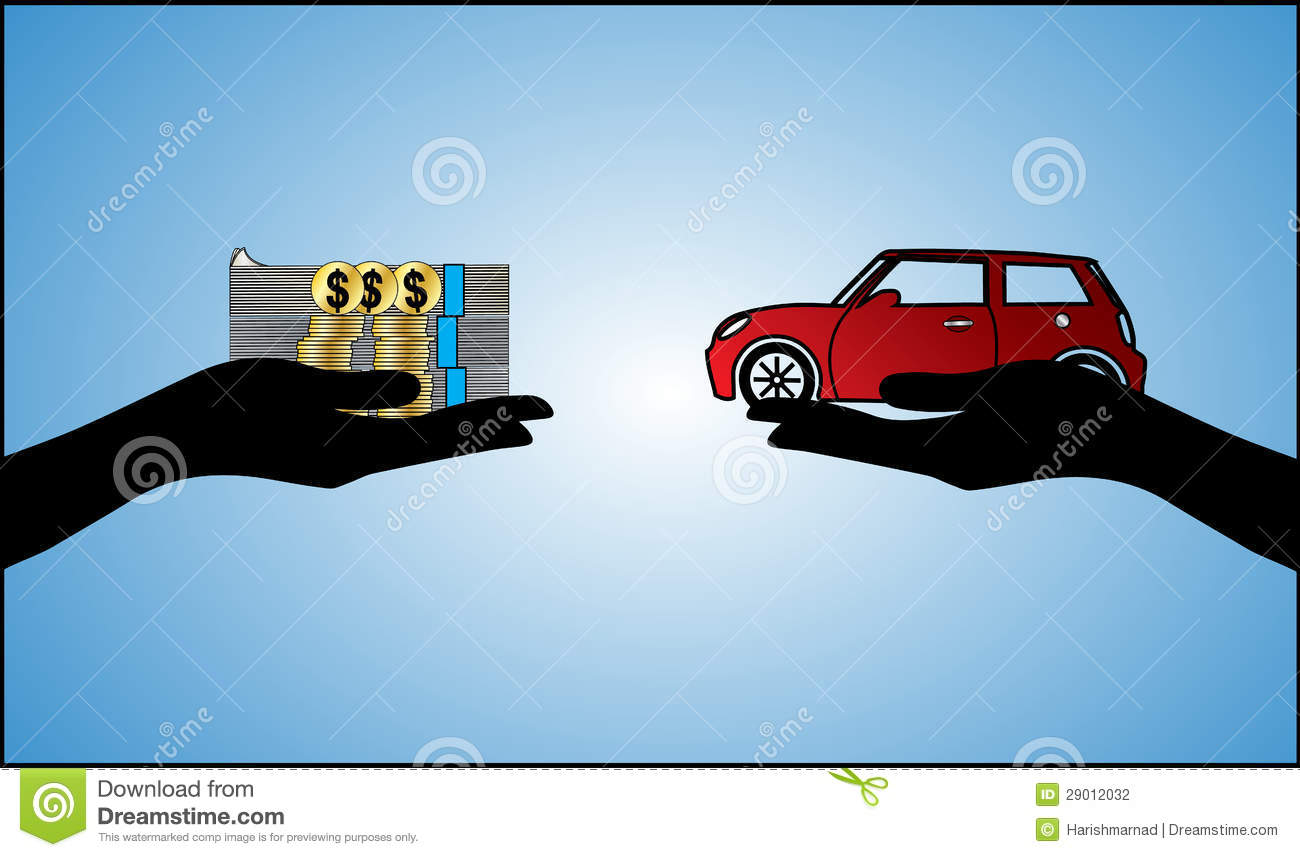 car loan illustration hand silhouette and beauti stock vector image 29012032. Black Bedroom Furniture Sets. Home Design Ideas