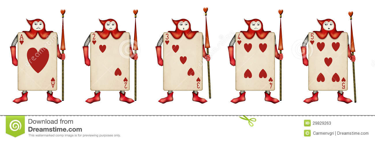 alice in wonderland card soldiers template - illustration of card soldiers read hearts from ali stock