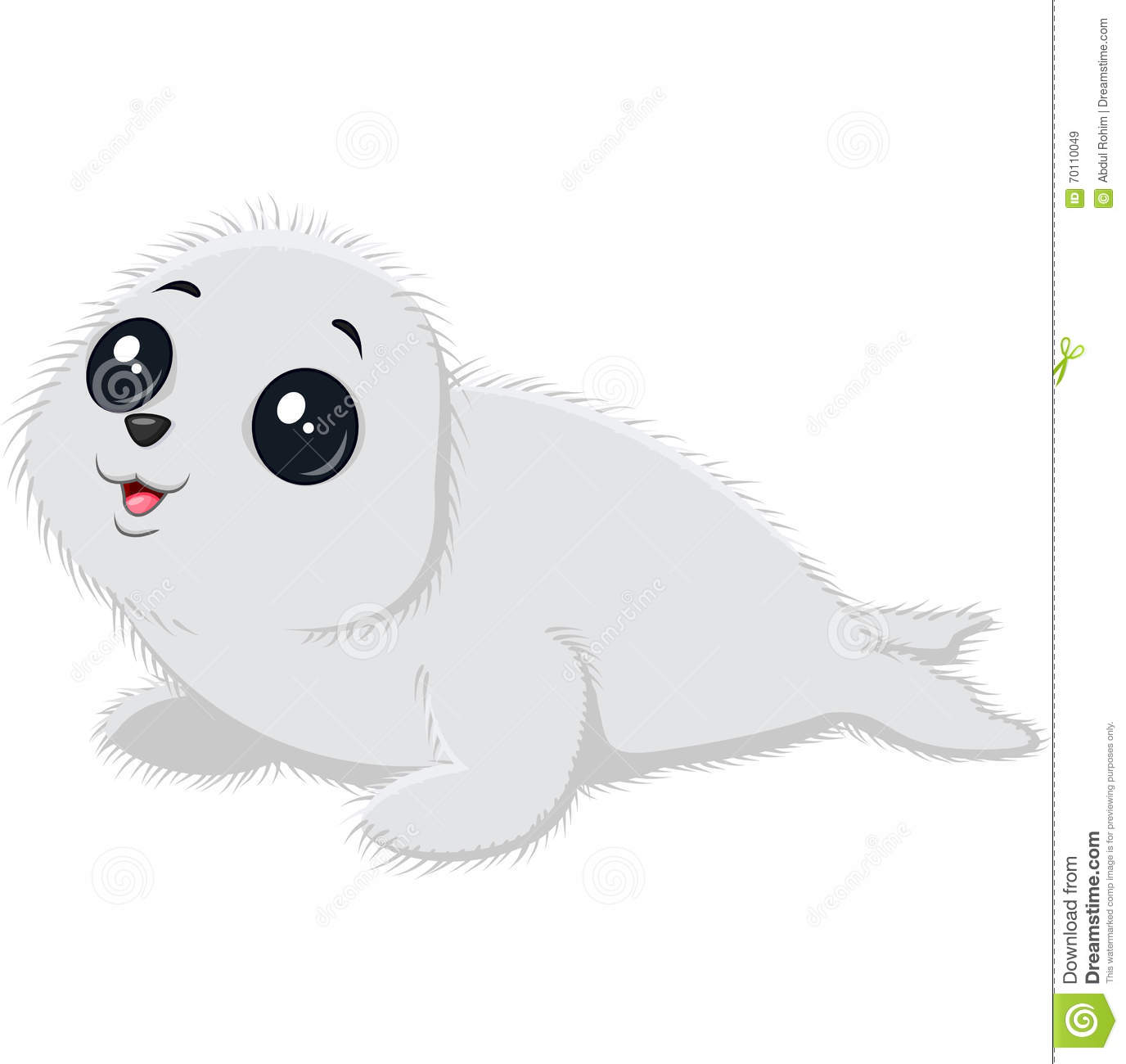 Illustration Of Cartoon Baby Seal Stock Vector
