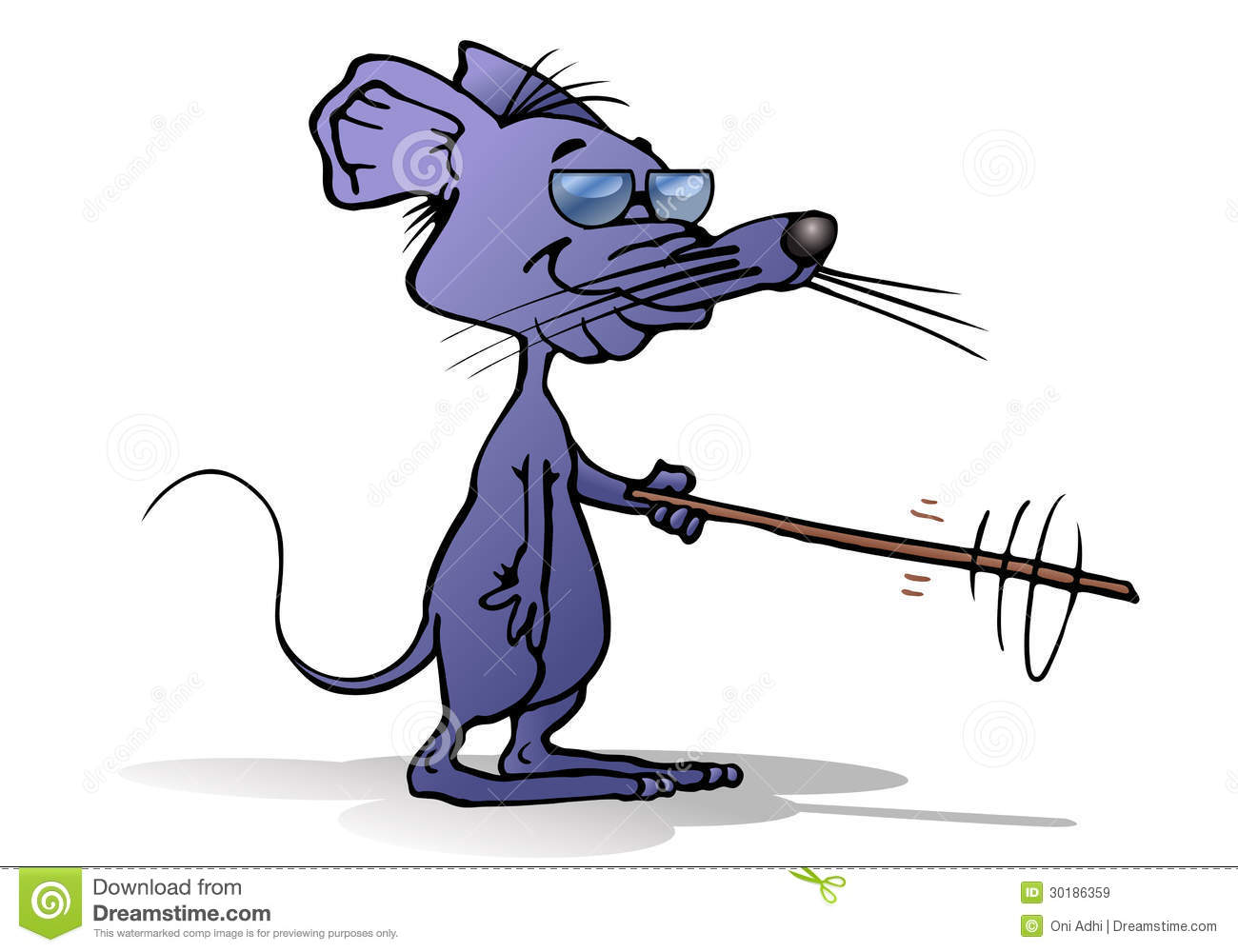 Blind Mouse With Sunglasses Royalty Free Stock Image