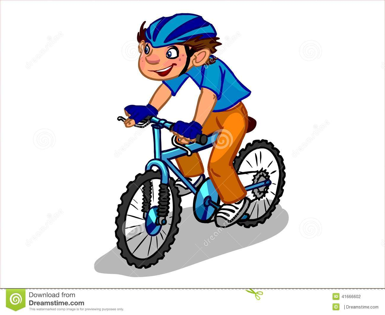 The Illustration Of A Cartoon Boy On A Bicycle. Stock Illustration ... 3b663a8ca