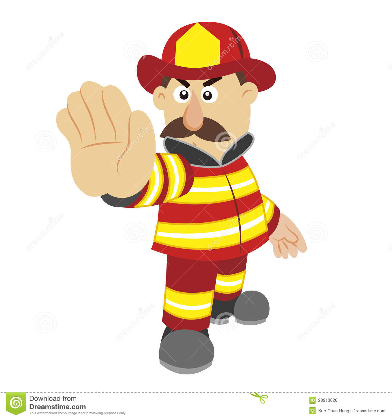 ... Of Cartoon Fireman ,vector Royalty Free Stock Image - Image: 28913026