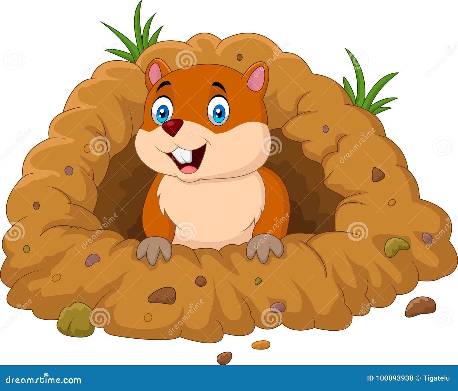 cartoon groundhog stock illustrations 1 167 cartoon groundhog rh dreamstime com groundhog clip art images groundhog clipart free