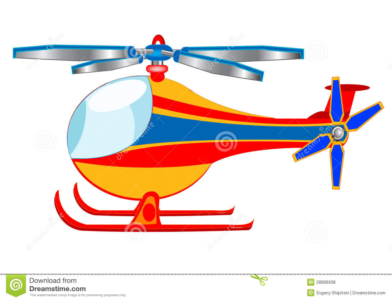 of the cartoon helicopter