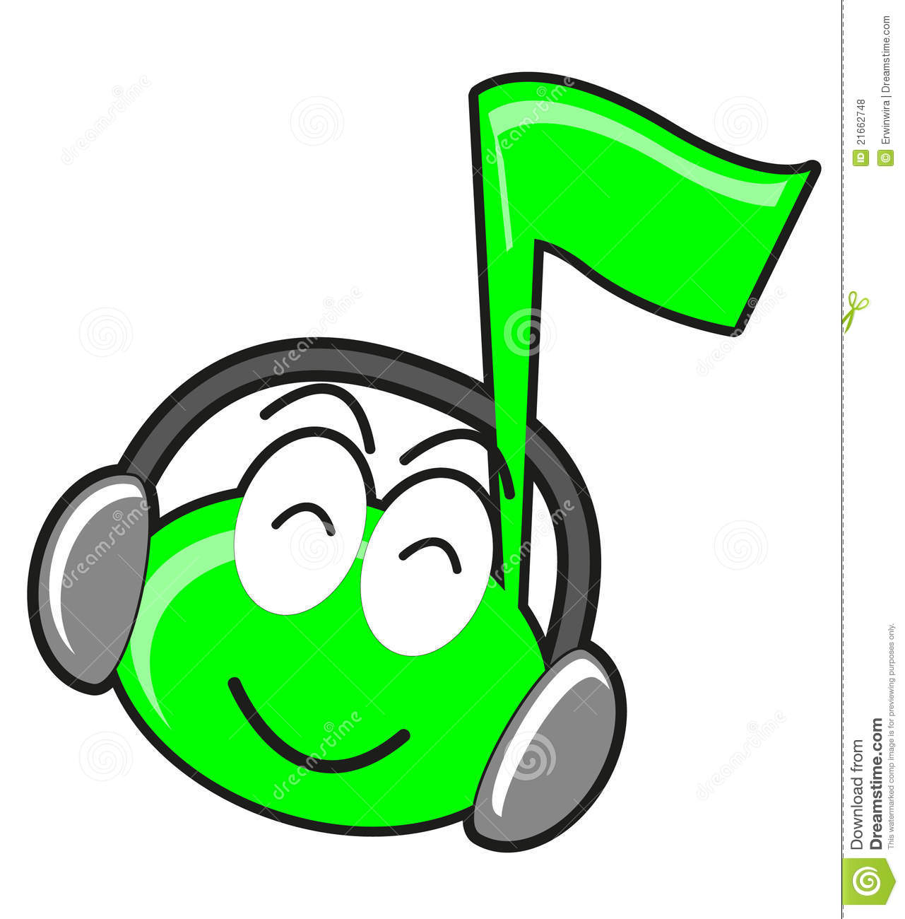 Illustration Of Cartoon Music Tone Stock Images - Image: 21662614