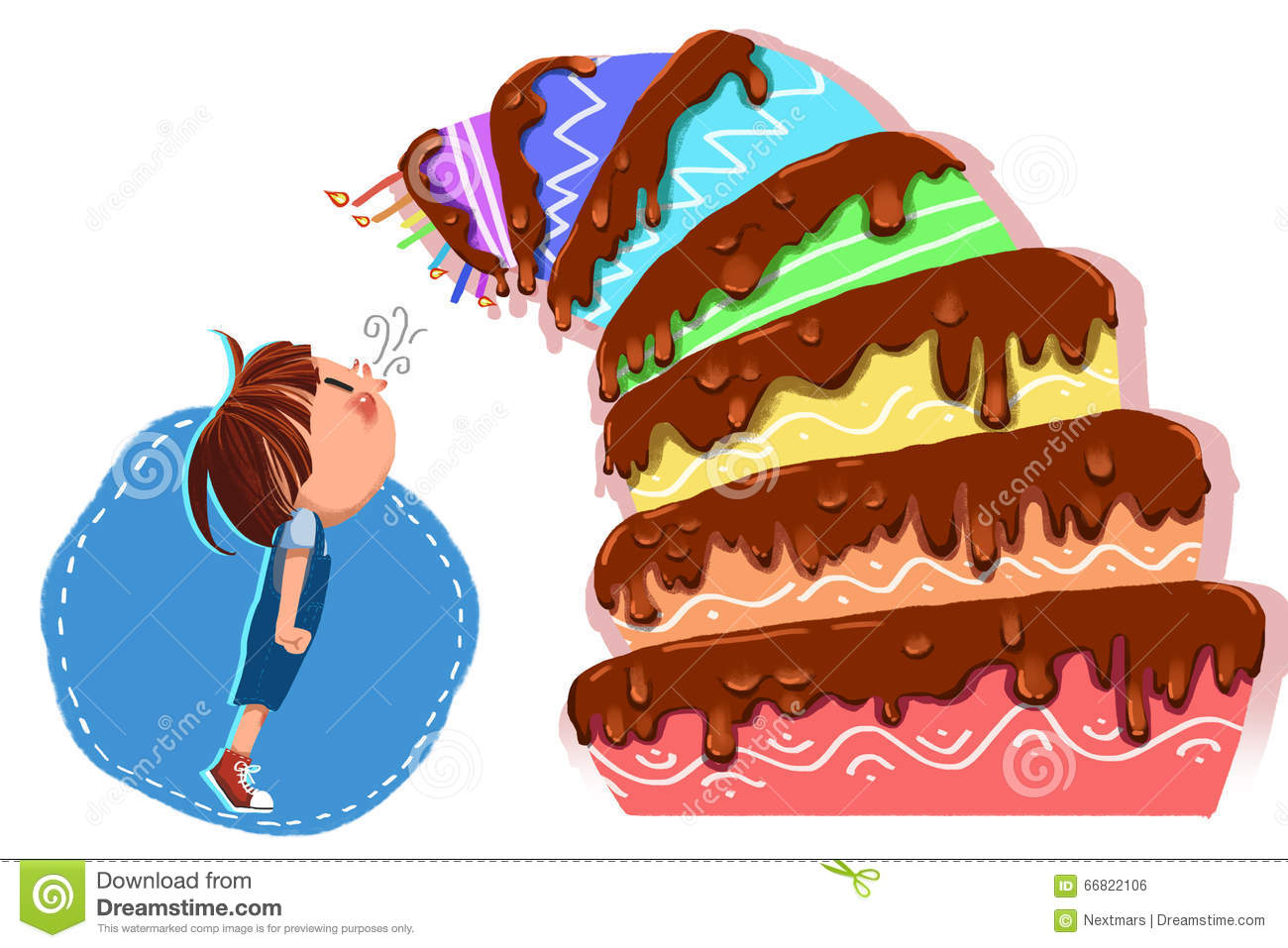 illustration for children happy birthday little man the tiered birthday cake leaned closer and