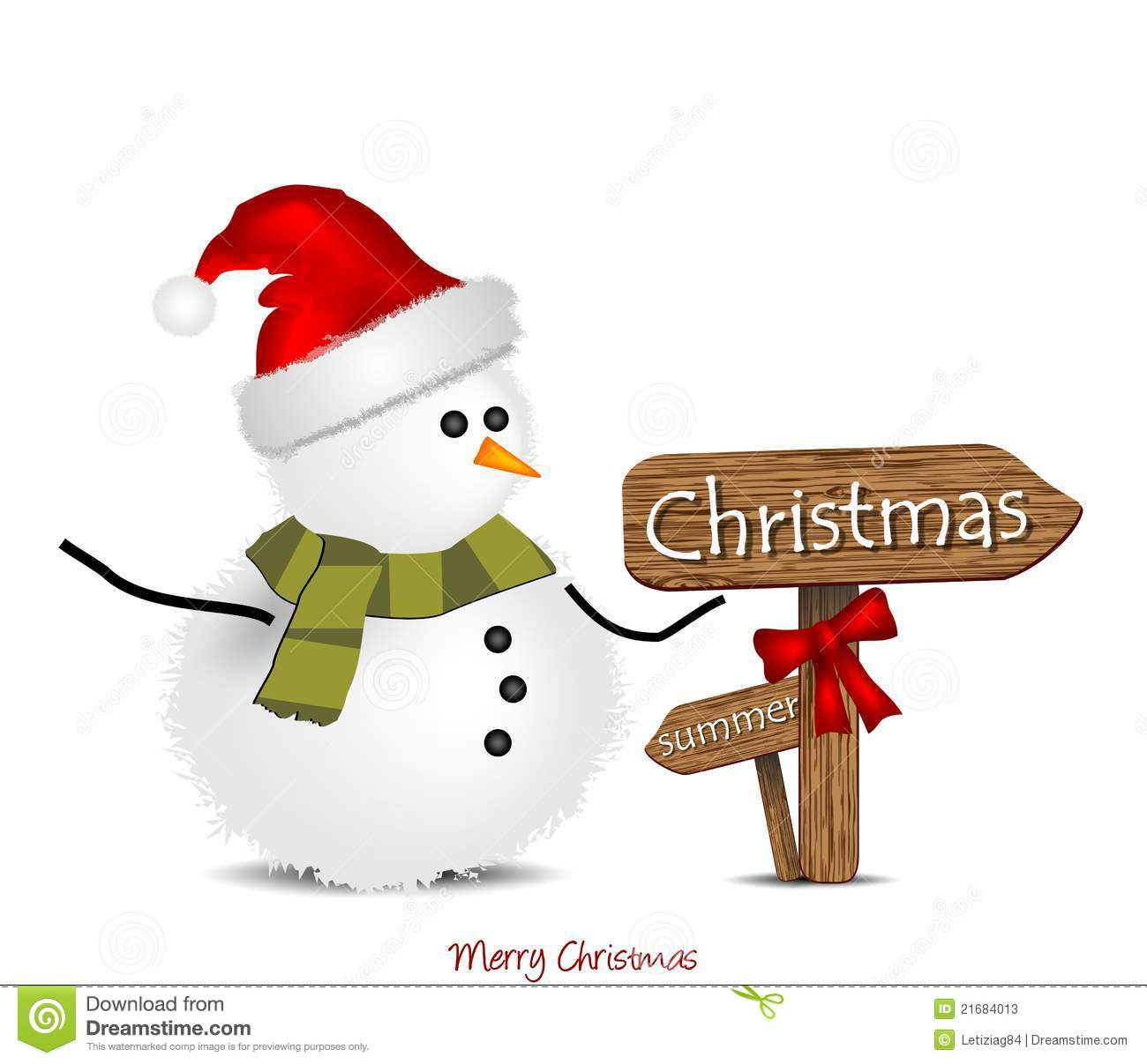 Christmas Arrow Signs.Illustration With Christmas Snowman And Signage Stock