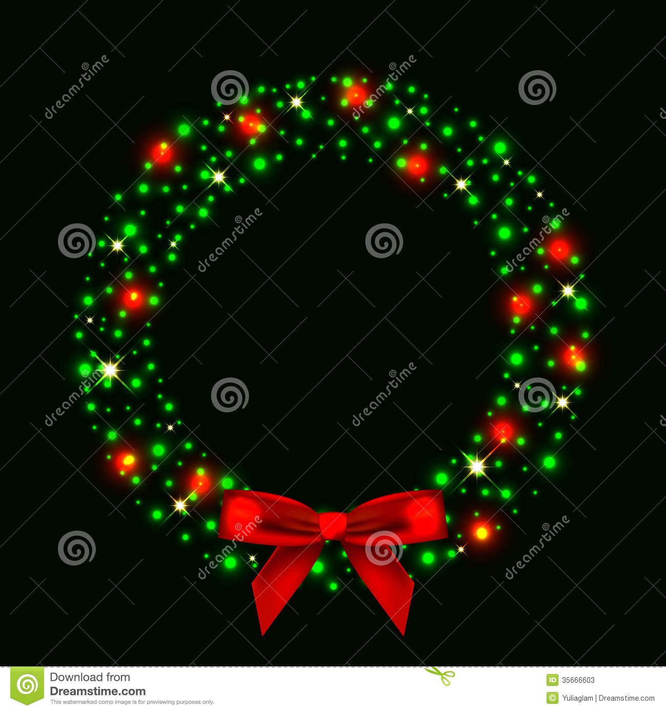 Lighted Christmas Wreaths Outdoor