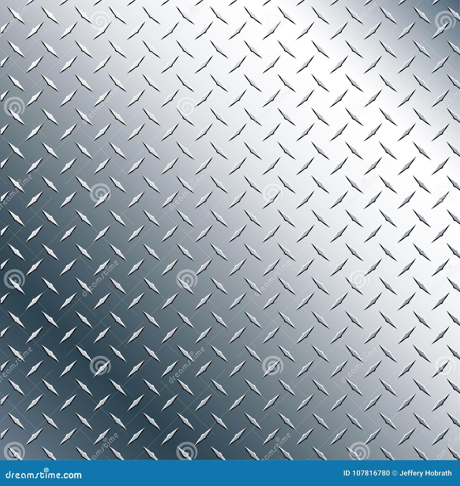 Illustration Chromes Diamond Plate Realistic Vector Graphic