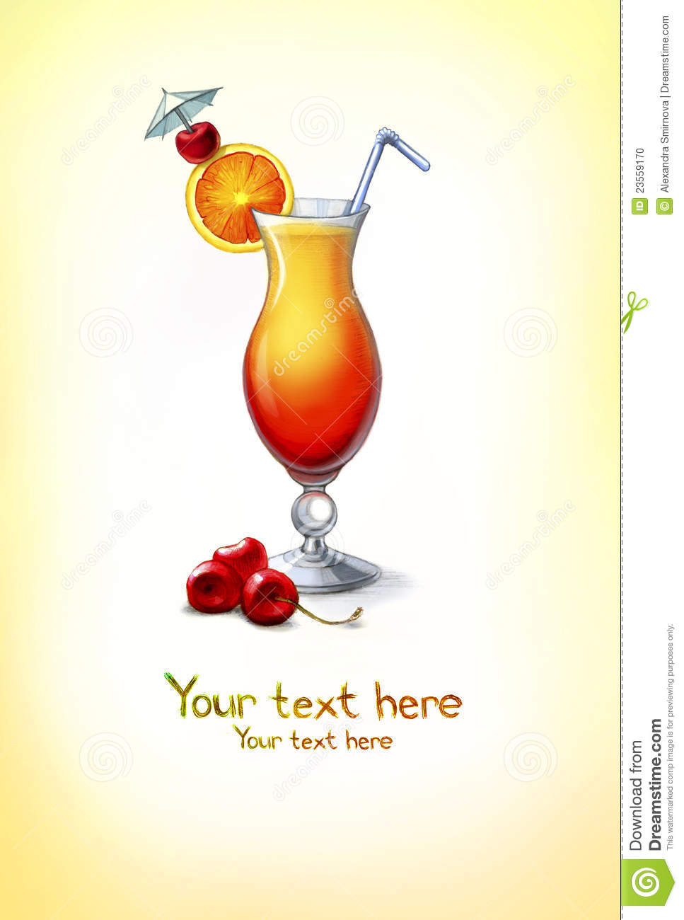 Illustration Of Cocktail Stock Photo - Image: 23559170