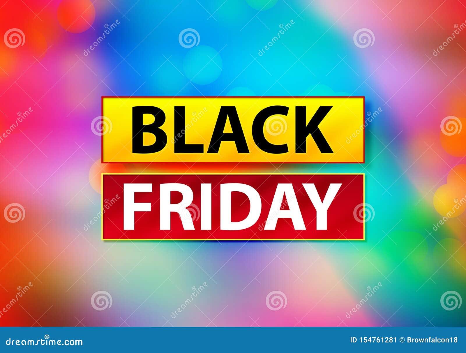 Illustration colorée abstraite de conception de Bokeh de fond de Black Friday