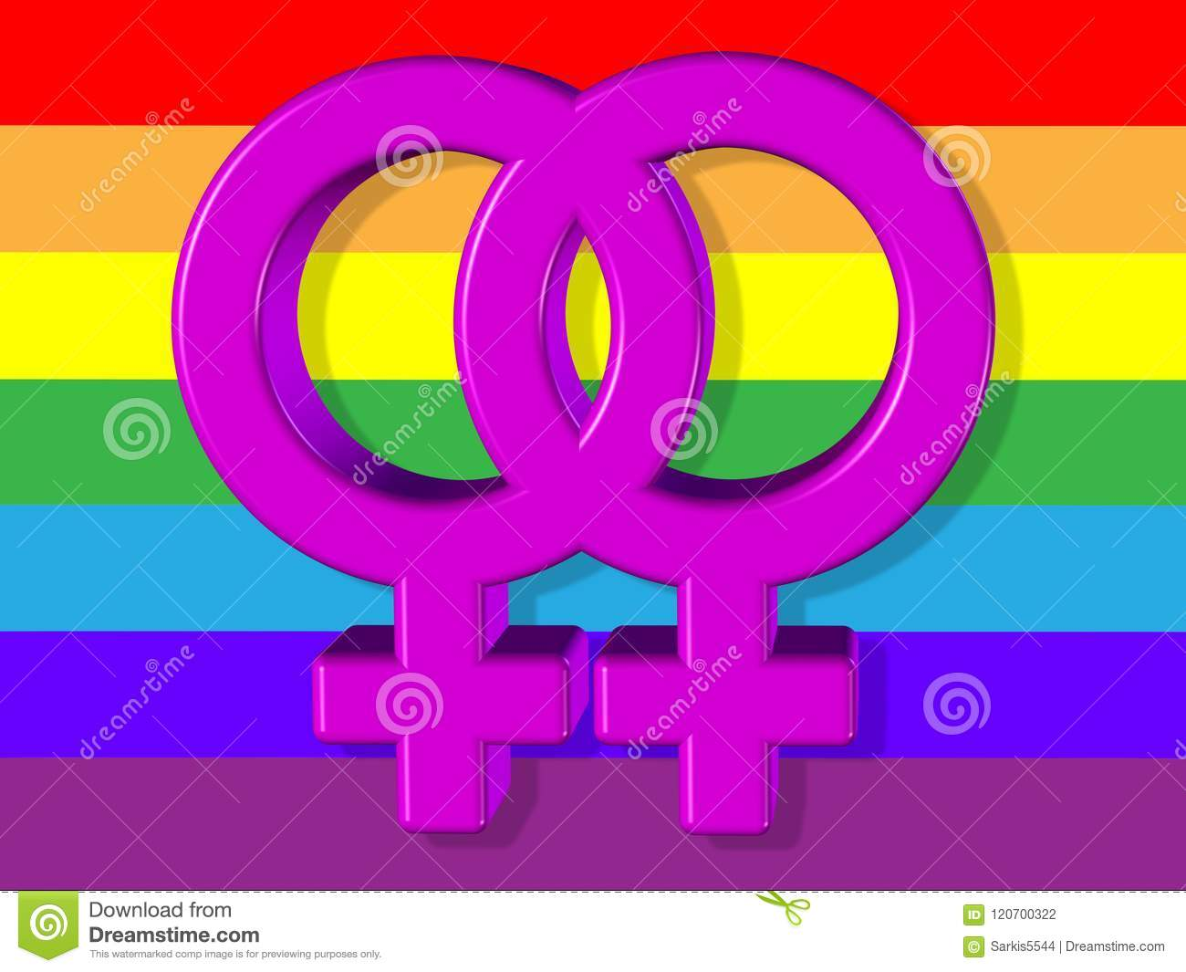 computer generated lesbian picture