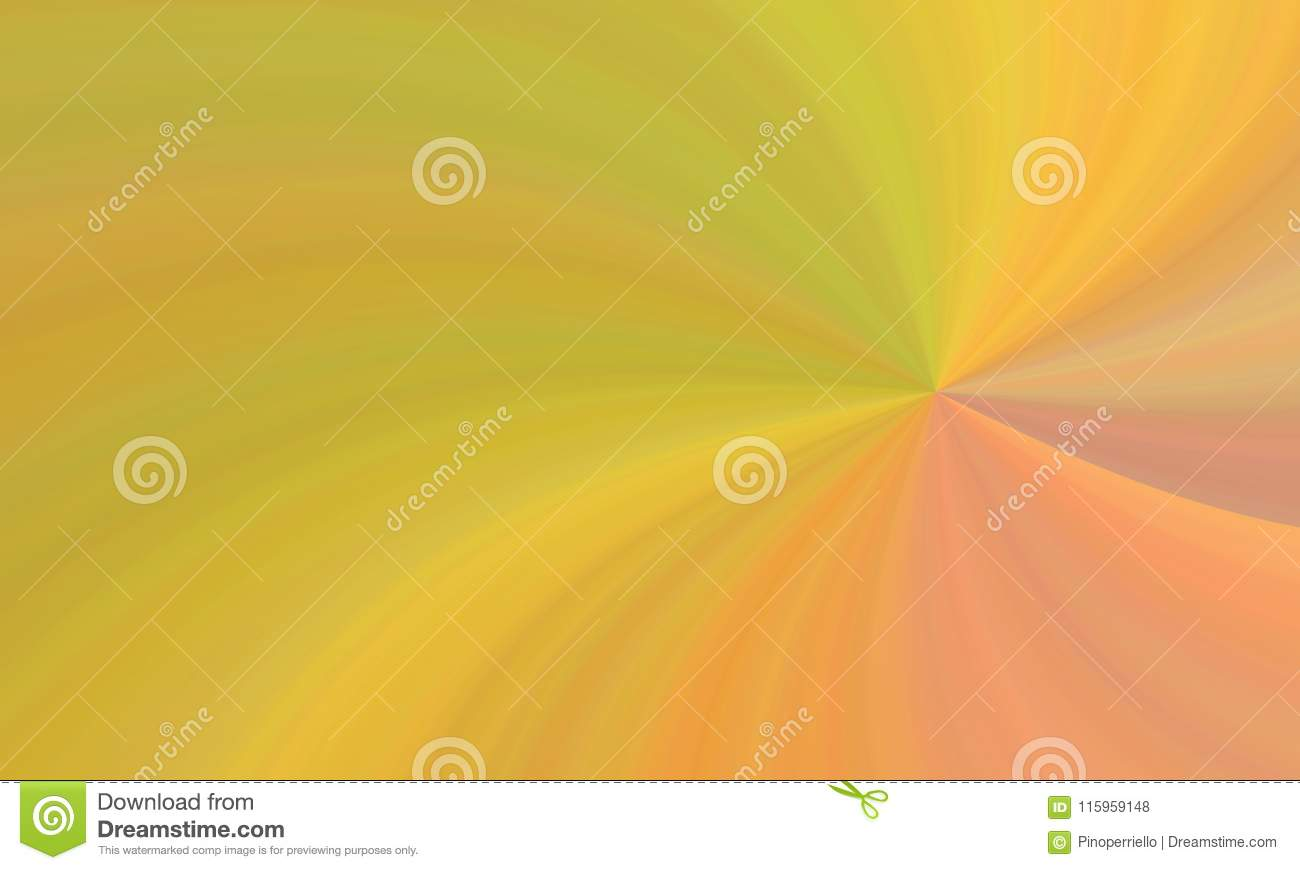 Illustration of colorful yellow orange red curvilinear shapes