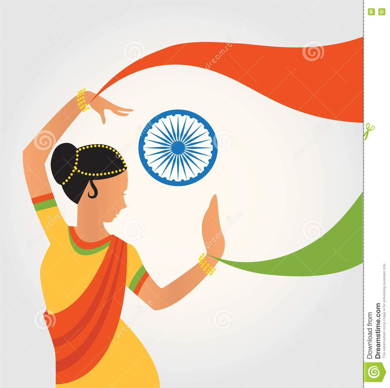 Illustration Of Colourful Culture India With Different Form Classical Dance Cartoon Vector Cartoondealer Com 75237861