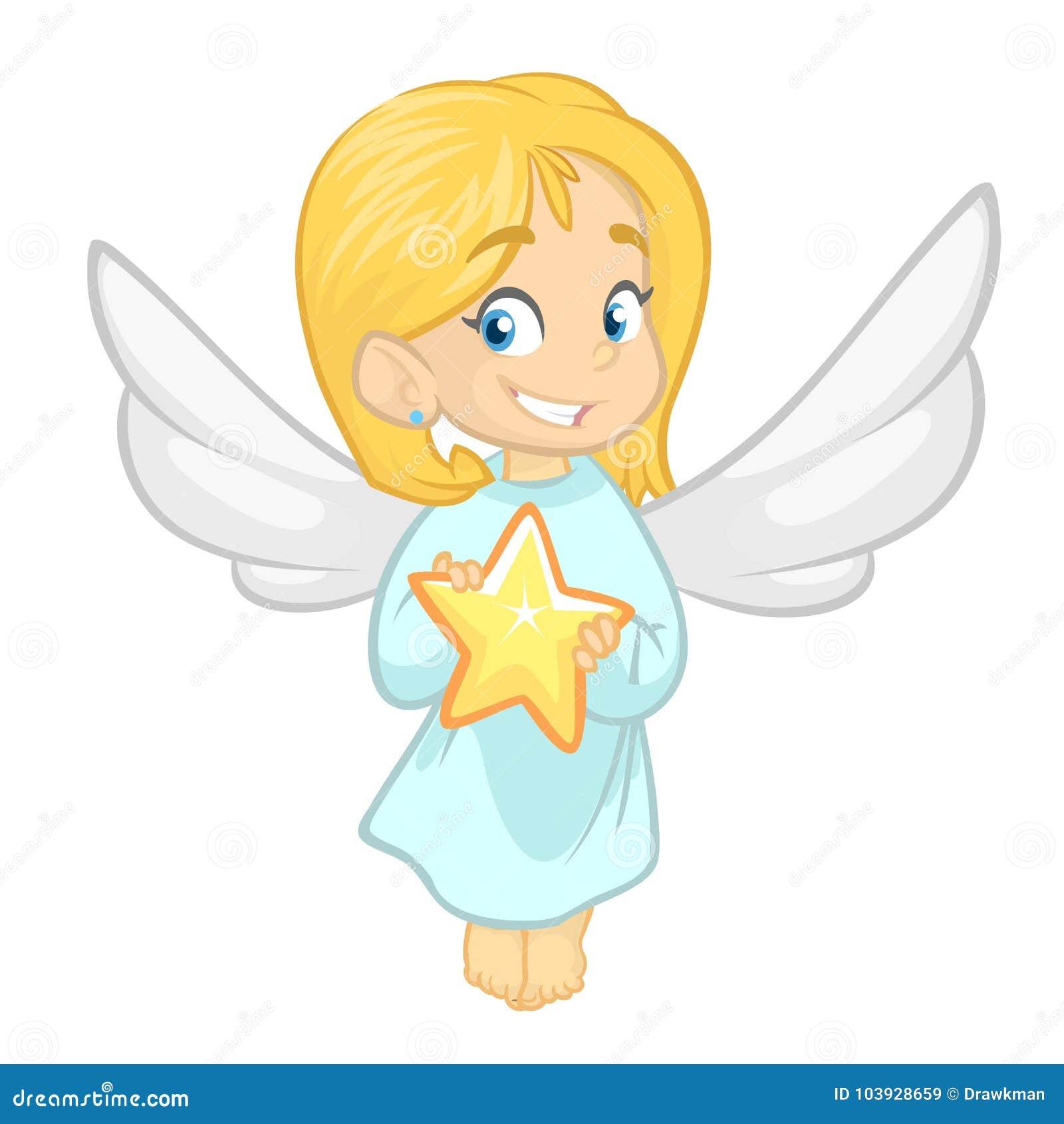 Illustration Comportant Une Petite Fille Habillée Comme Ange