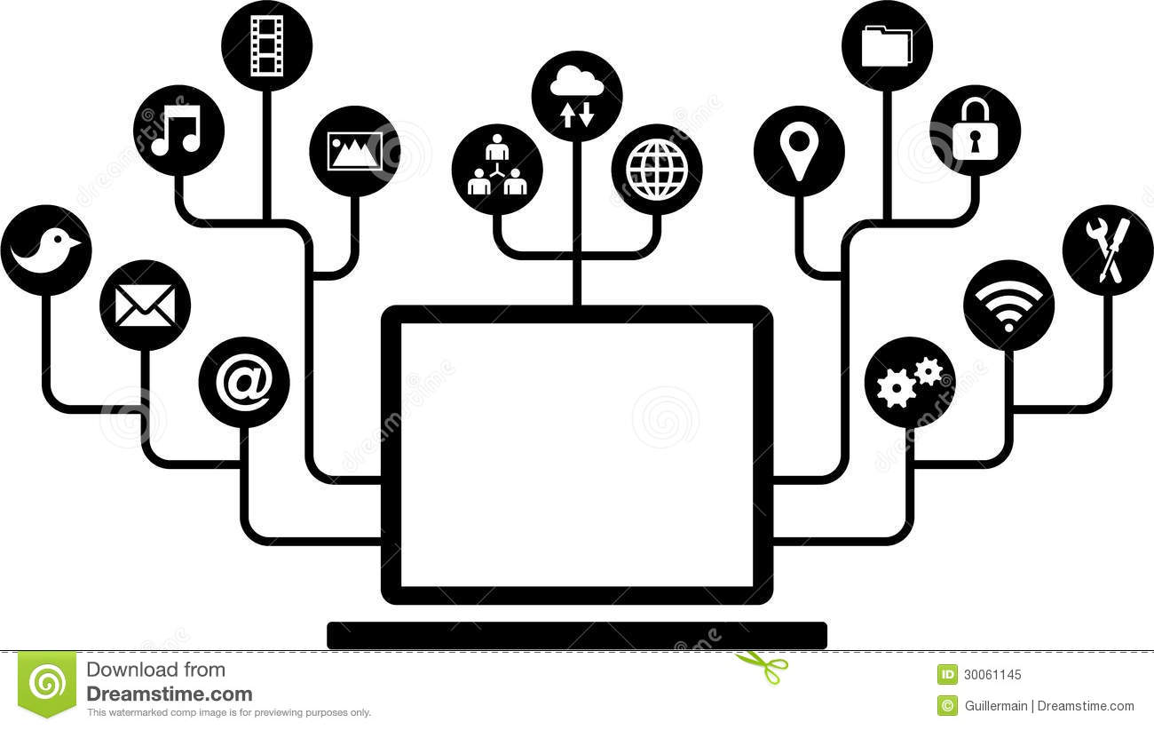 Computers function icons stock vector illustration of function computers function icons biocorpaavc Choice Image