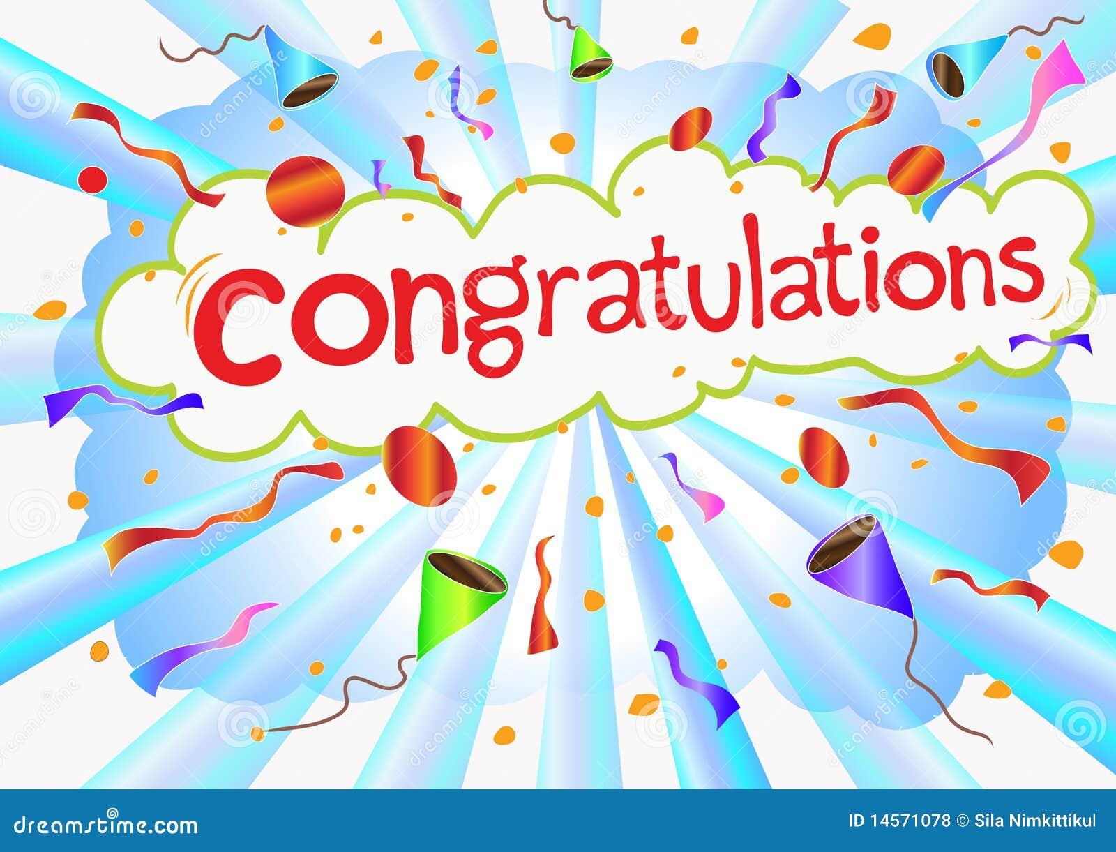 illustration congratulations wording and celebrati royalty