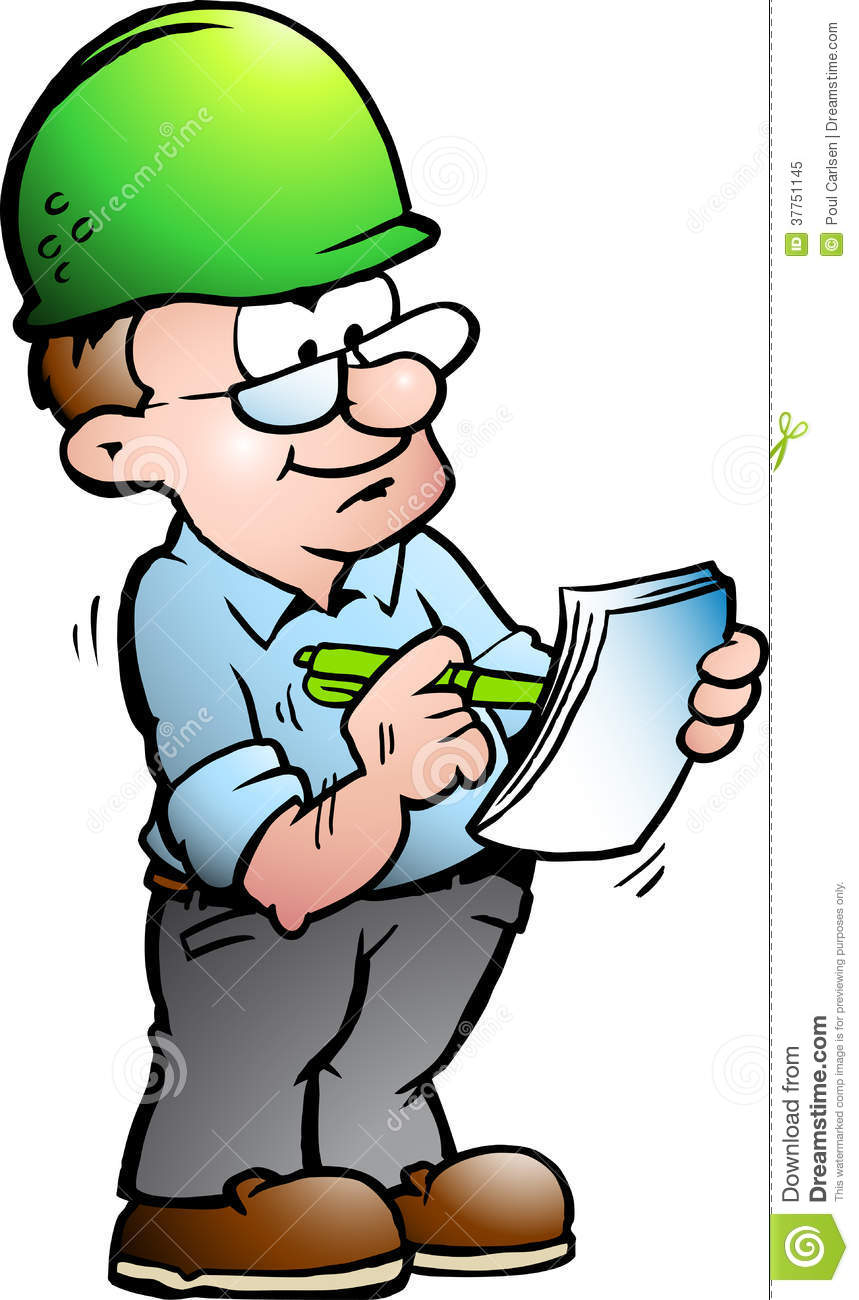 Construction Manager Cartoon : Illustration of an construction manager royalty free stock