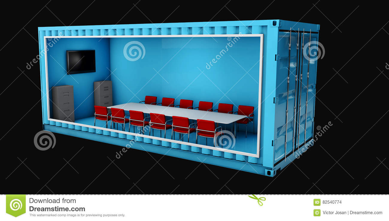 Illustration of Container Office. Reuse for building .