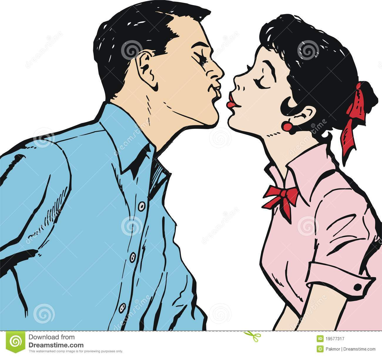 A young couple kissing on camera 6