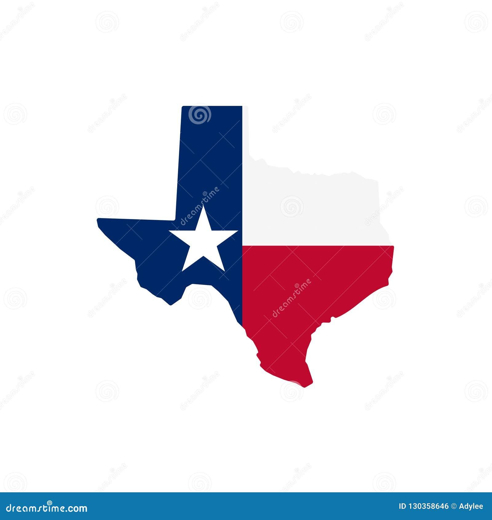 Illustration courante 1 de vecteur d icône de carte du Texas de vecteur