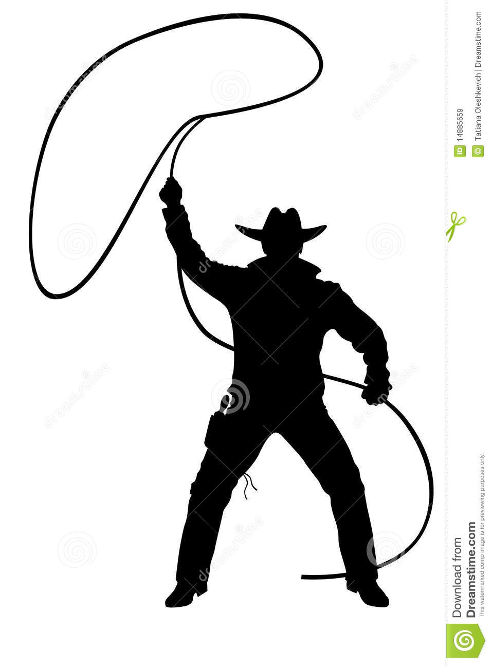 Illustration Of Cowboy With Lasso Royalty Free Stock Images - Image ...