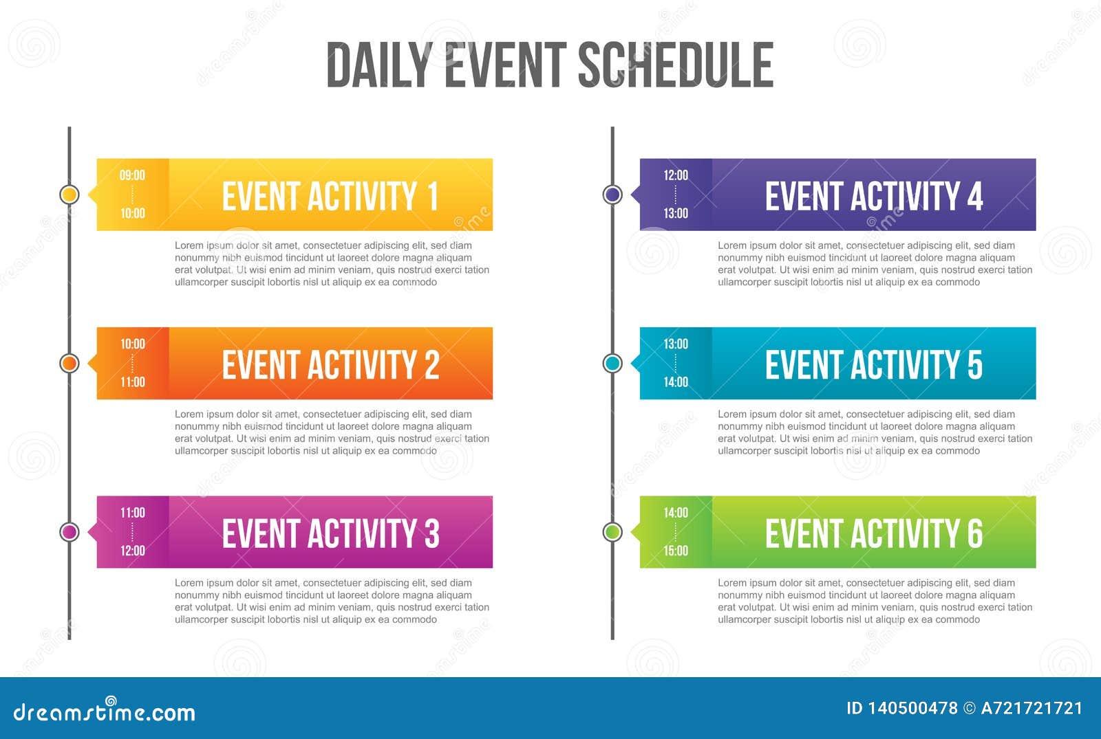 Illustration créative de vecteur du blanc quotidien de programme d événement d isolement sur le fond transparent Chronologie de c