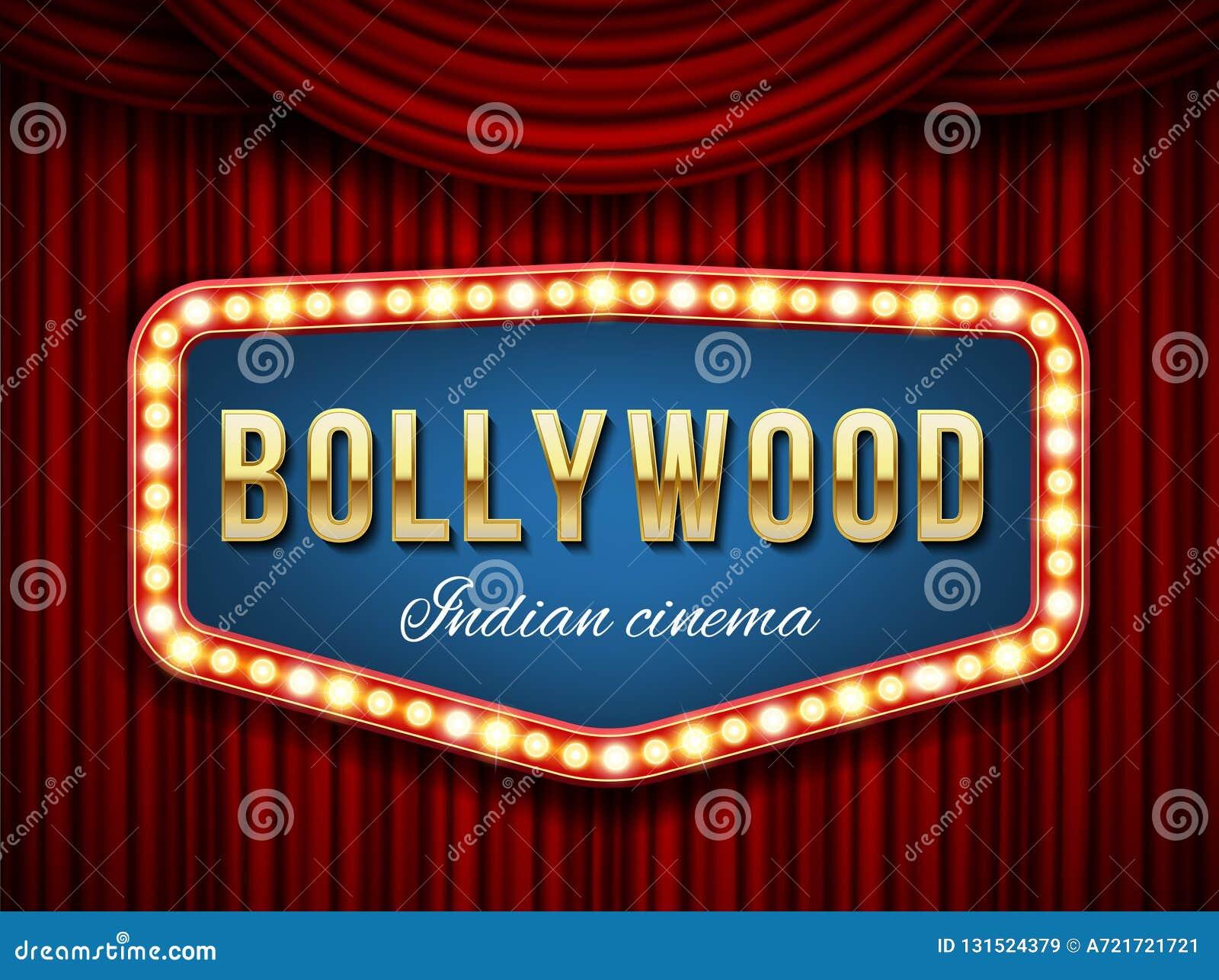 Illustration créative de vecteur de fond de cinéma de bollywood Film indien de conception d art, cinématographie, bannière de thé