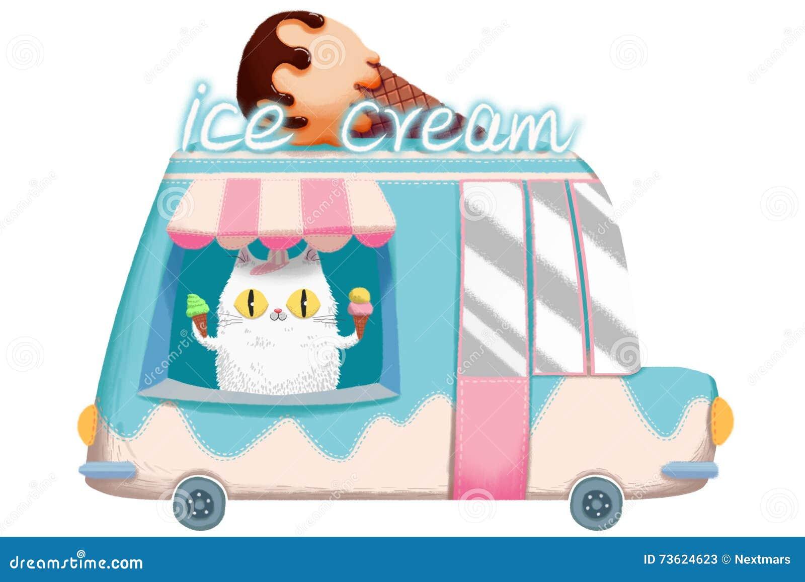 Illustration créative et art innovateur : Crème glacée Van
