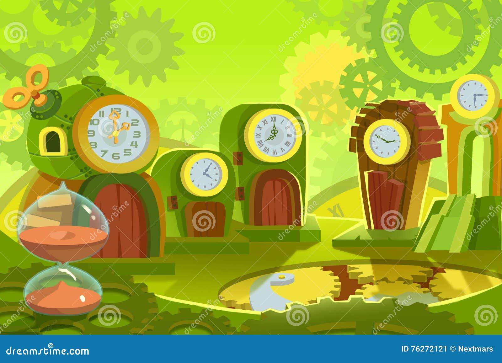 Illustration créative et art innovateur : Le fond a placé 6 : Terre de temps