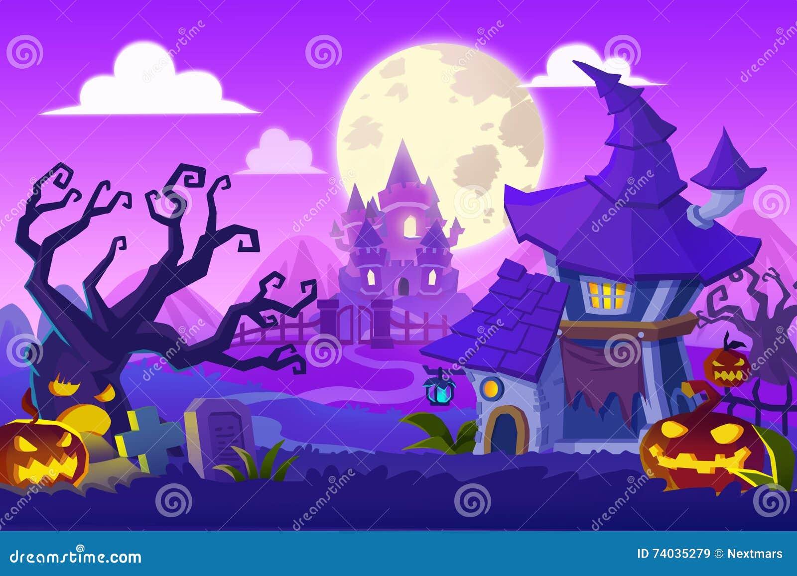 Illustration créative et art innovateur : Ville de Halloween