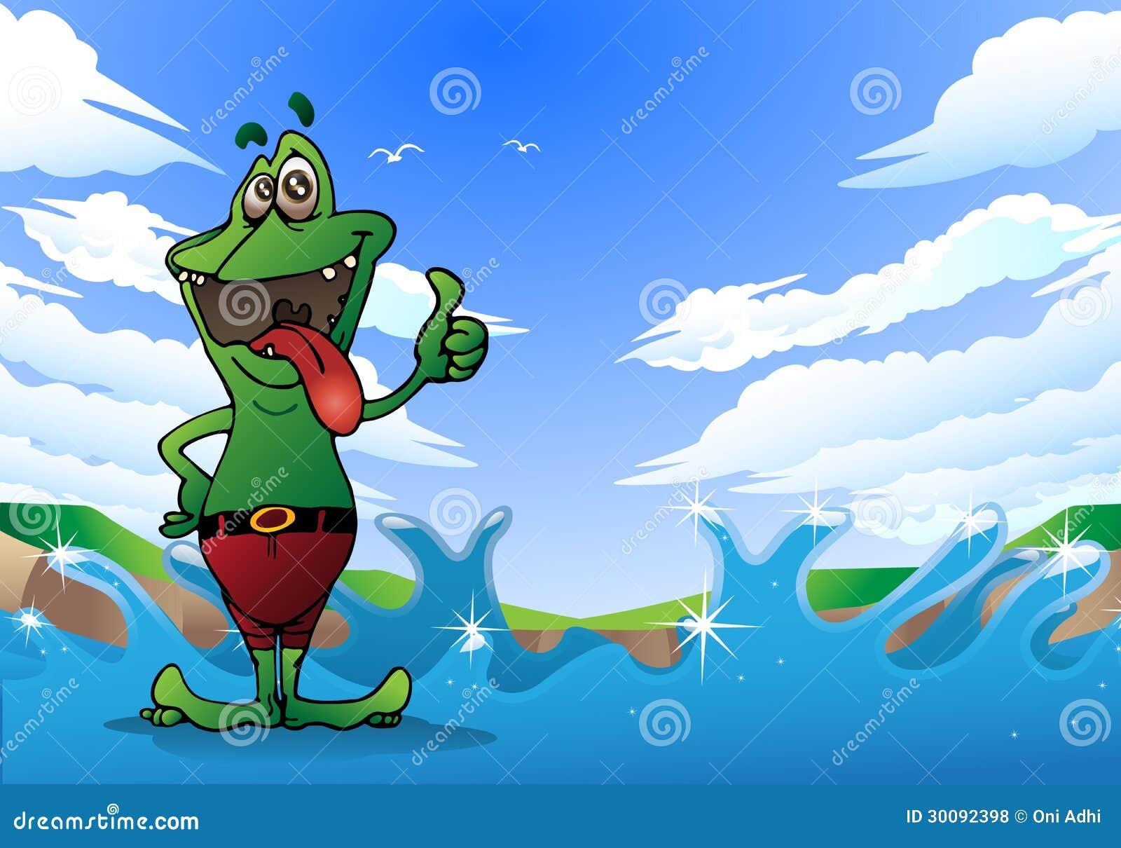 Crazy Frog Thumb Up Royalty Free Stock Photos Image