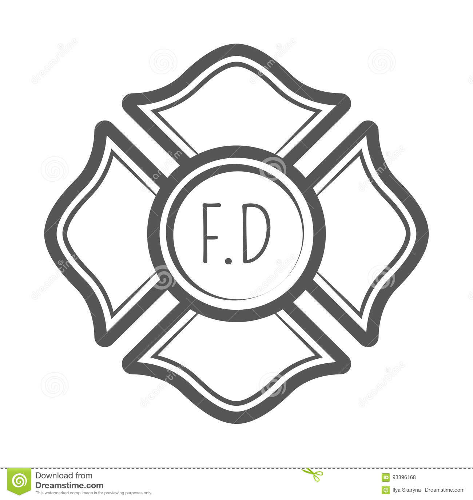 Illustration croisée de vecteur de sapeur-pompier dans le style de vintage de monocrome
