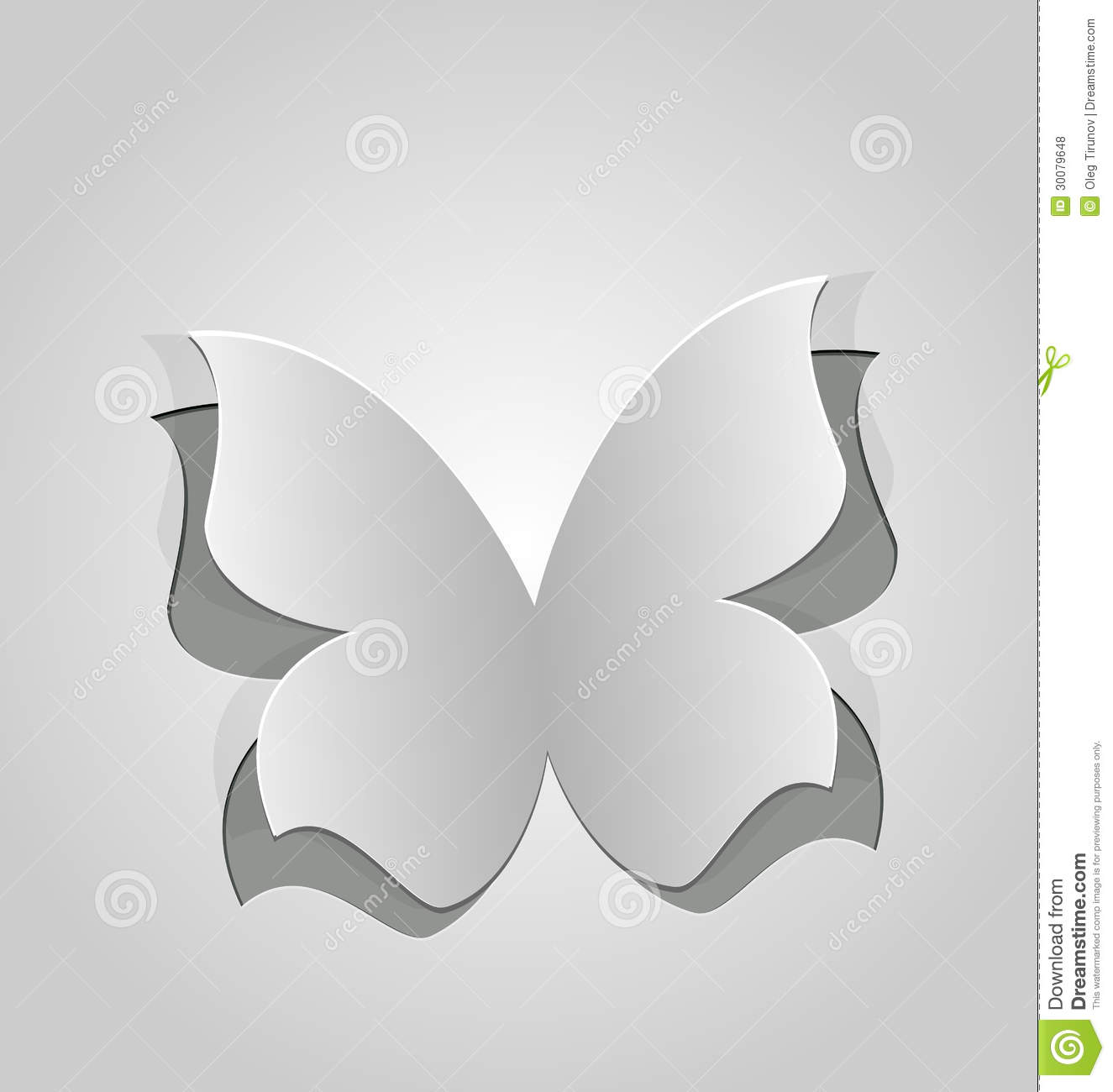 butterfly paper cut out template - cut out butterfly grey paper royalty free stock photos