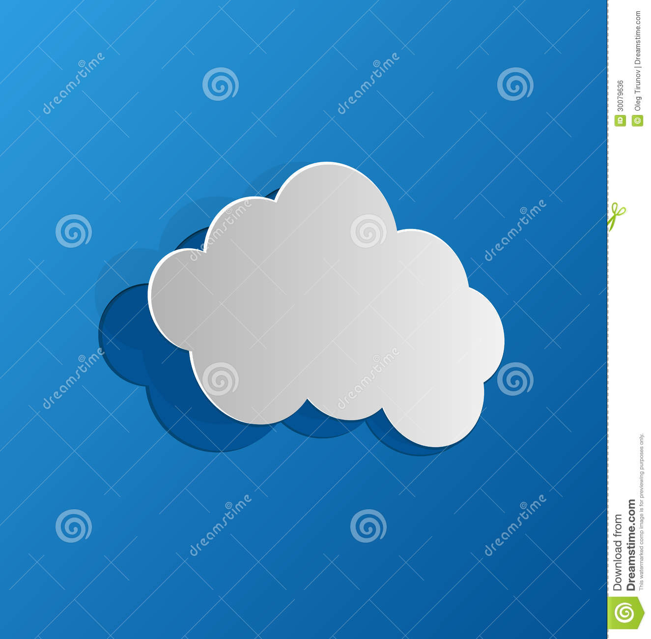 Cut out cloud blue paper royalty free stock image image for How to make a paper cloud