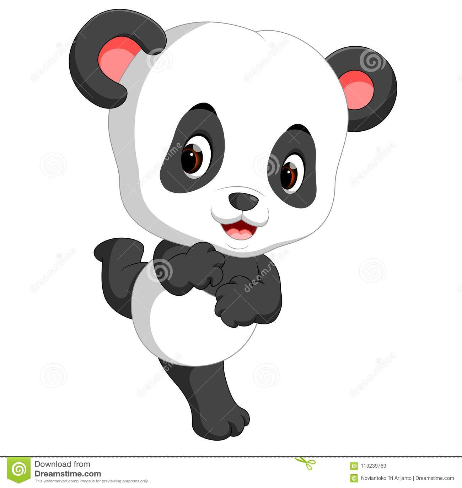 Cute Baby Panda Cartoon Stock Vector Illustration Of Comic 113239769