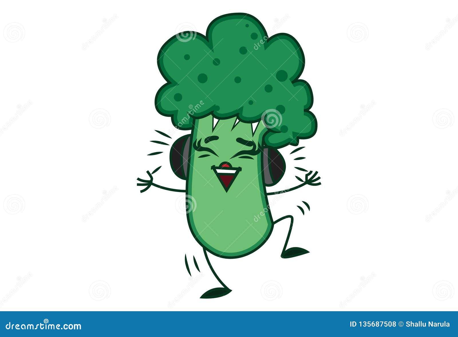 illustration of cute cartoon broccoli stock vector illustration of healthy diet 135687508 dreamstime com