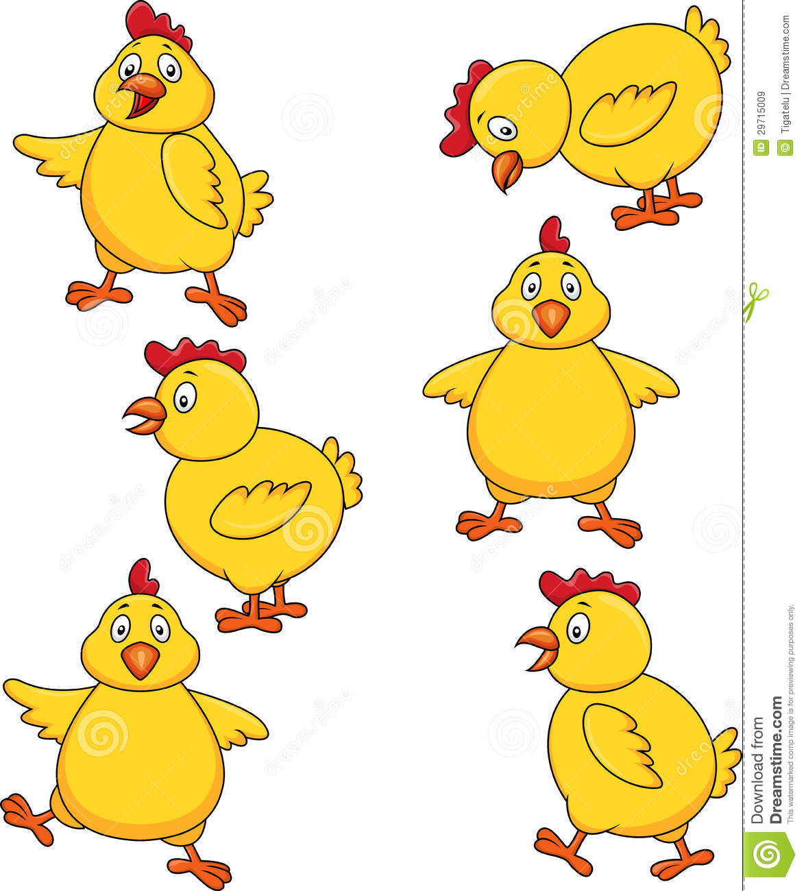 cute chicken cartoon set royalty free stock images image 29715009