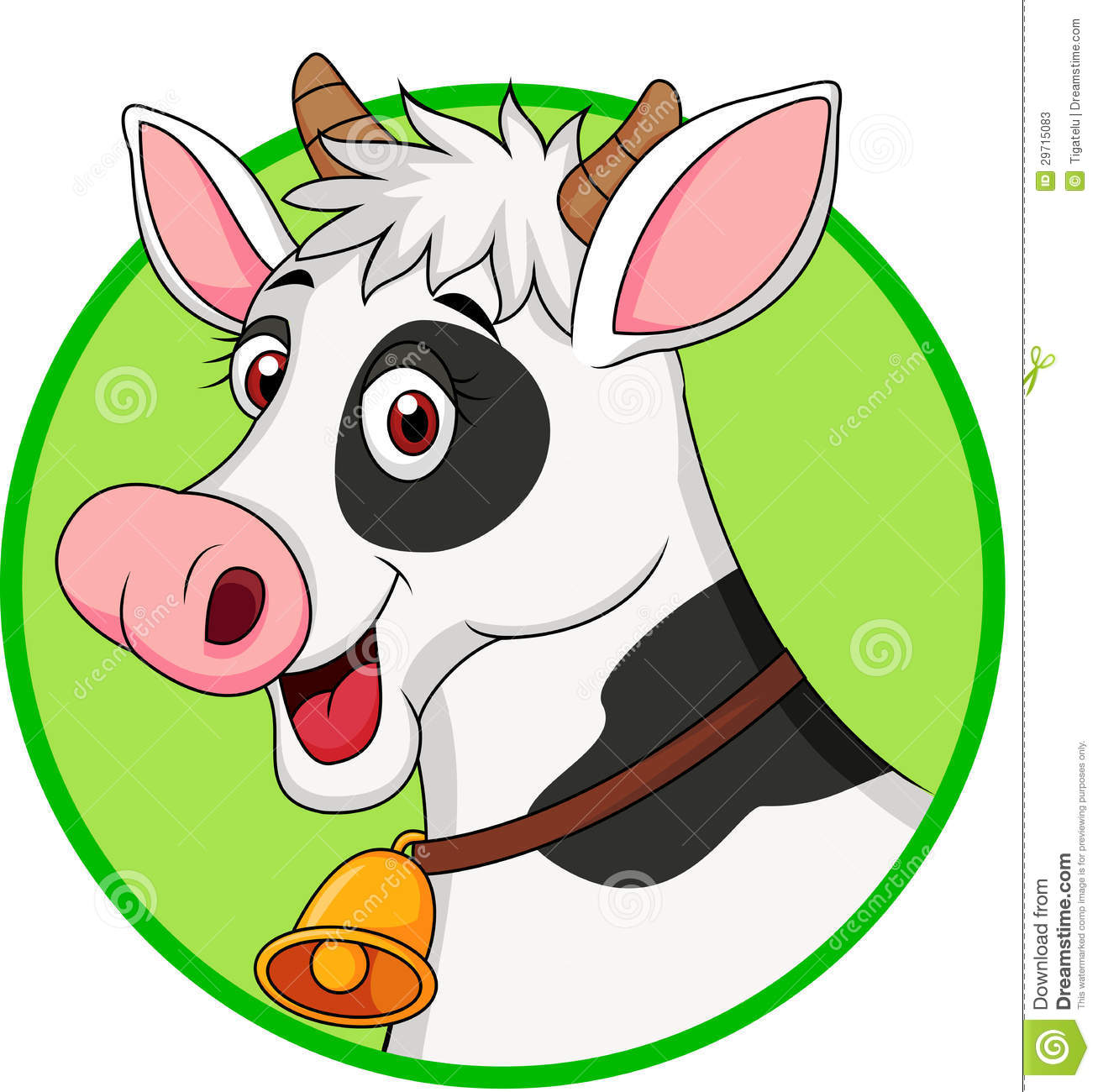 Illustration of cute cow head cartoon Cute Funny Cow Cartoon