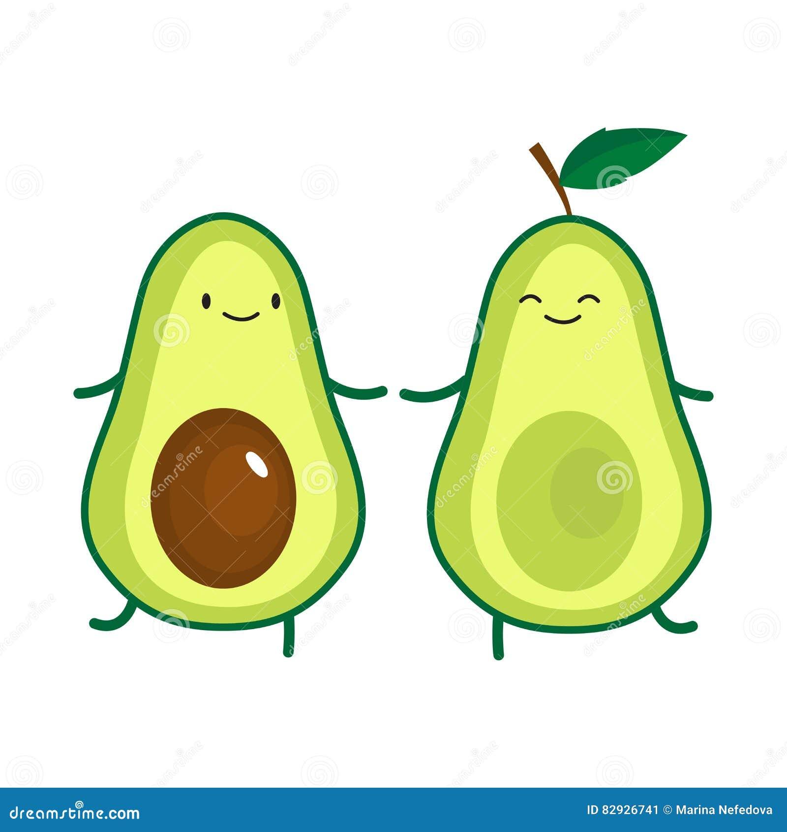 how to draw a cartoon avocado