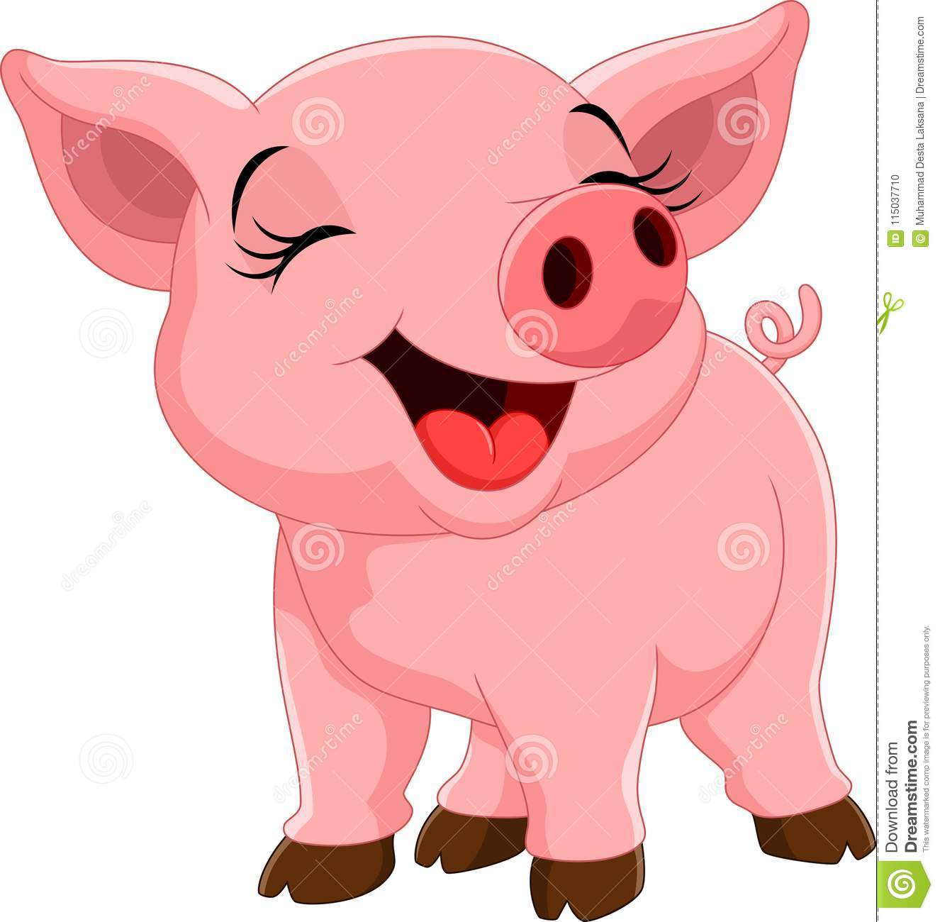 cute pig cartoon stock illustration illustration of baby 115037710