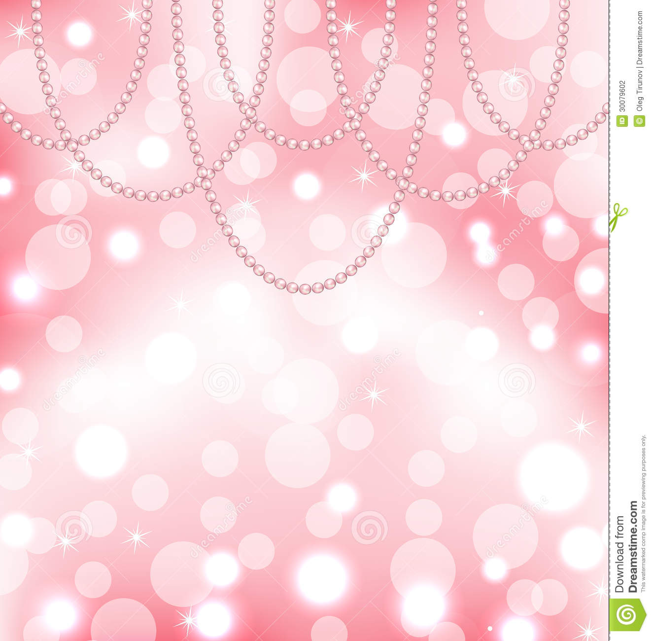 Cute Pink Background With Pearls Stock Photography - Image ...