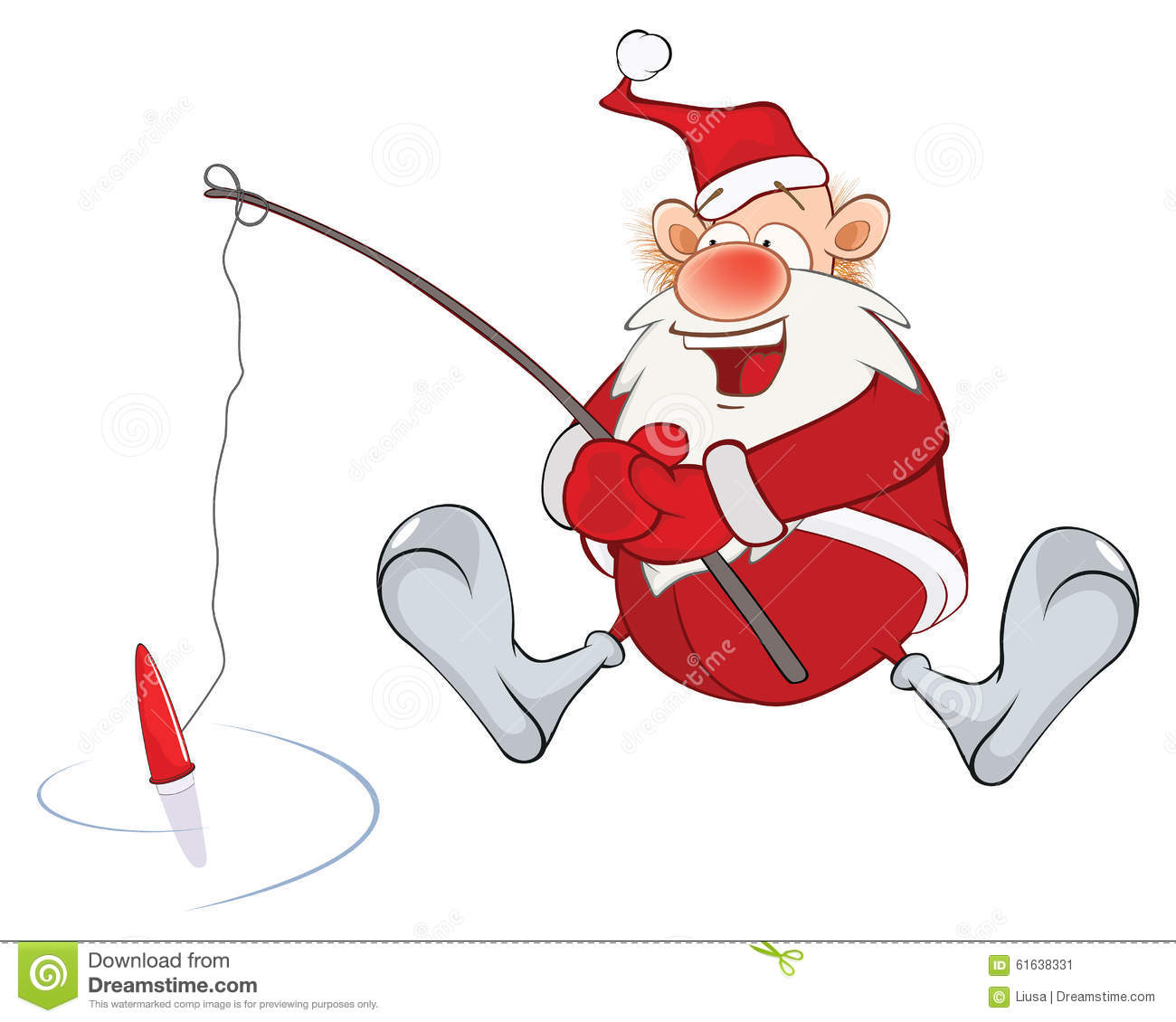 Fishing Santa Stock Illustrations – 83 Fishing Santa Stock ...