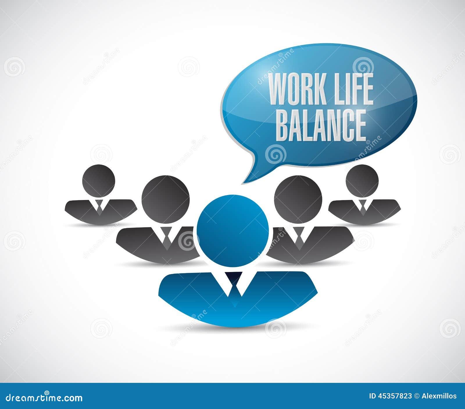 Illustration d équipe d équilibre de la vie de travail