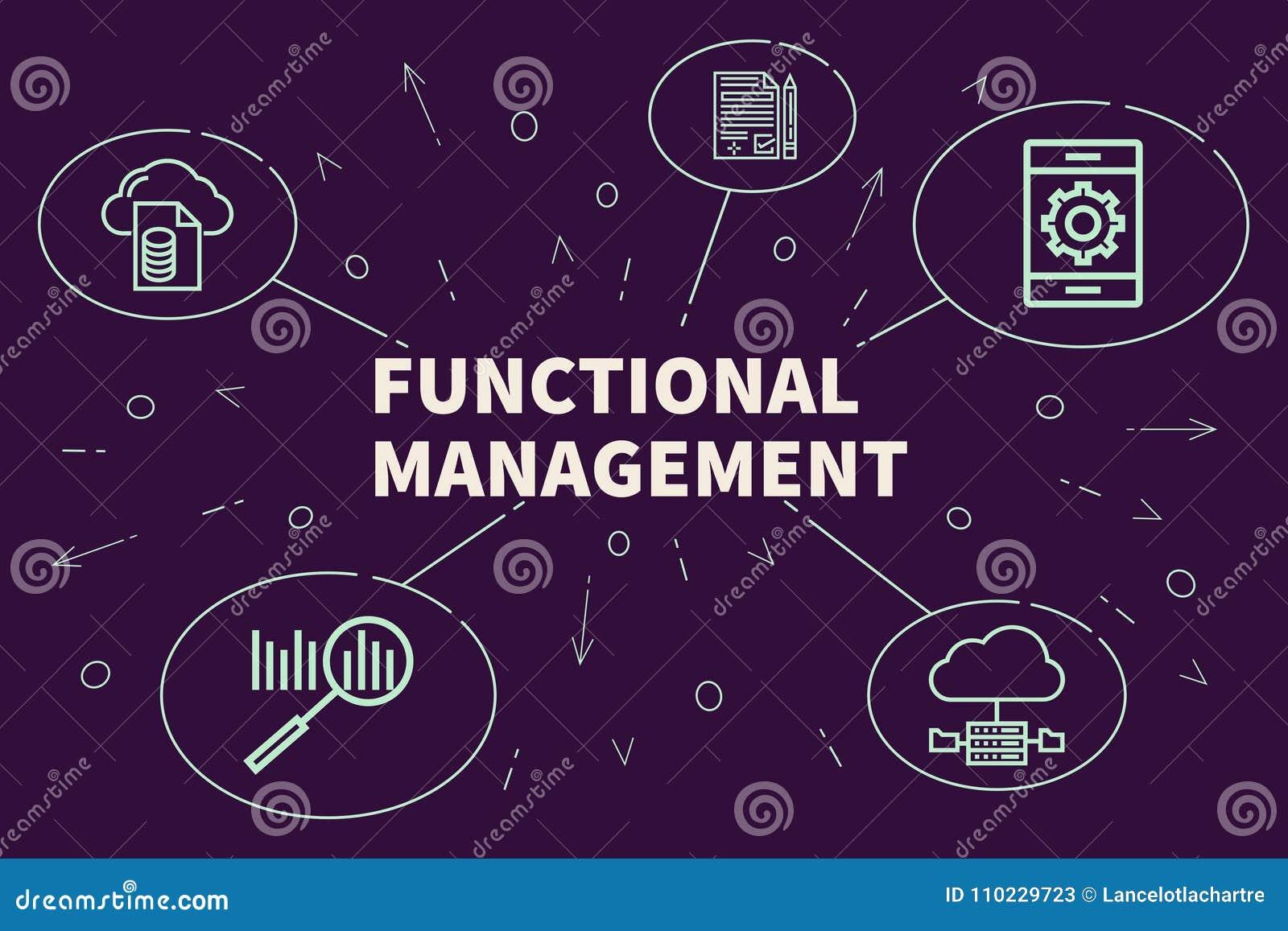 Illustration d affaires montrant le concept du manageme fonctionnel