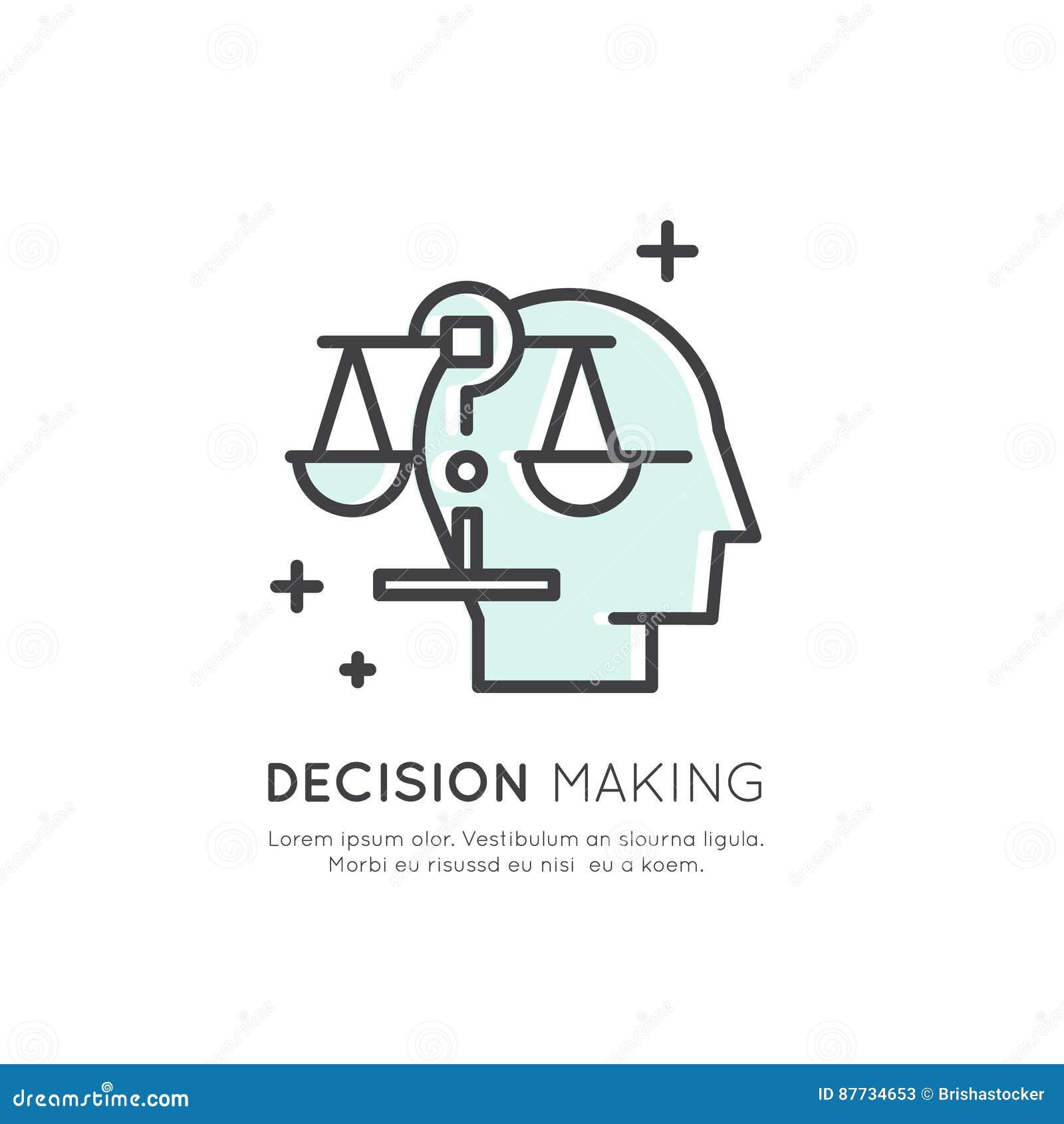 Illustration d Analytics, gestion, compétence de pensée d affaires, prise de décision, gestion du temps, mémoire, plan du site, f