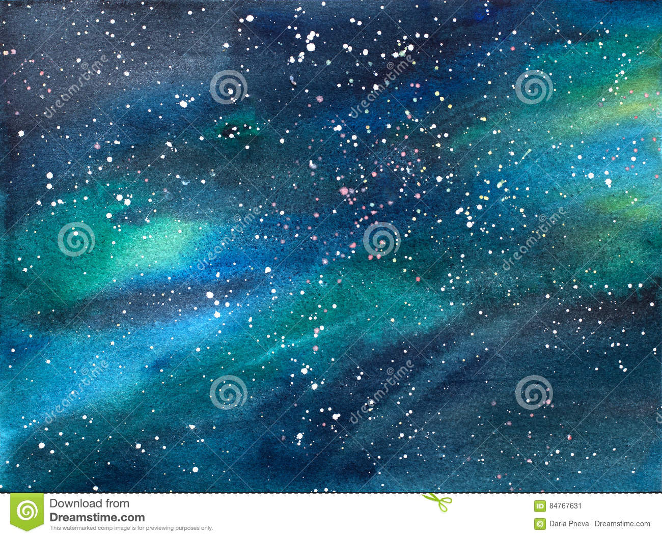 Illustration d aquarelle de cosmos d univers de galaxie