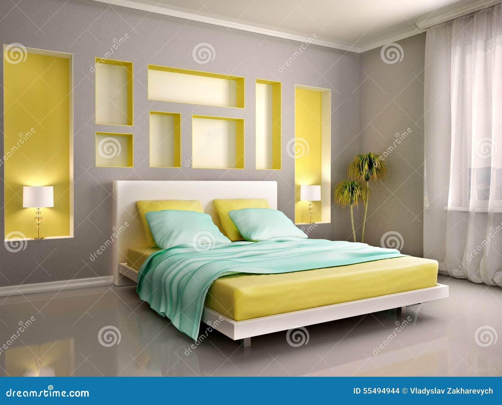 Illustration 3d d 39 int rieur moderne de chambre coucher for Chambre a coucher avec prix