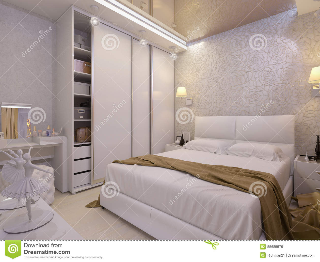 Awesome chambre a coucher blanche pictures ridgewayng for Chambre blanche