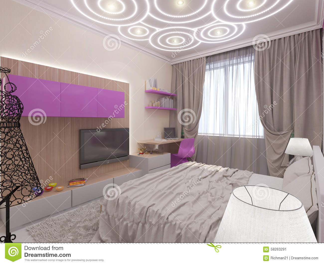 Chambre a coucher moderne jeune fille for Chambre a coucher jeune